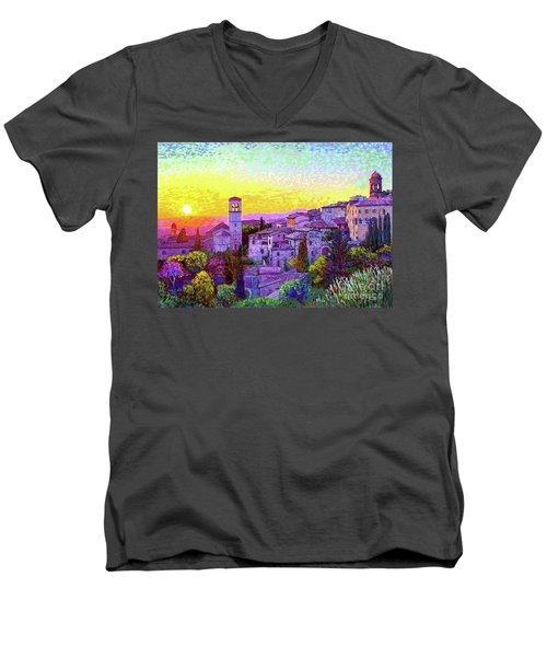 Basilica Of St. Francis Of Assisi Men's V-Neck T-Shirt