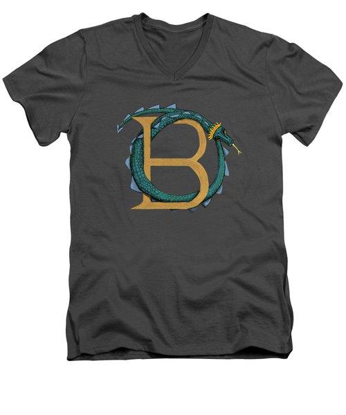 Basilisk Letter B Men's V-Neck T-Shirt