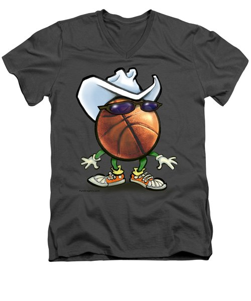 Basketball Cowboy Men's V-Neck T-Shirt