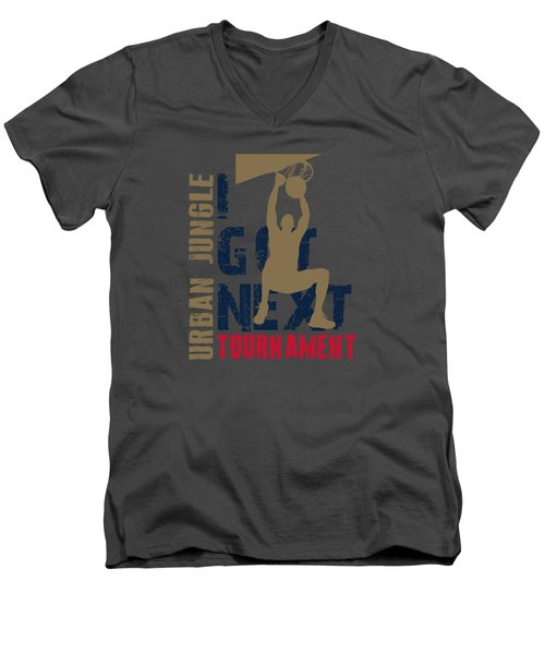 Basketball I Got Next 4 Men's V-Neck T-Shirt by Joe Hamilton