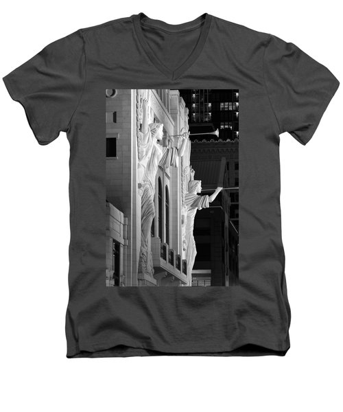Bass Hall Fort Worth 520 Bw Men's V-Neck T-Shirt