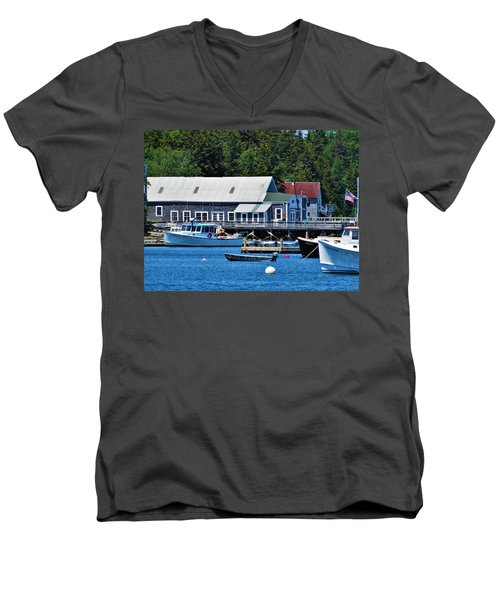 Bass Harbor Maine Men's V-Neck T-Shirt