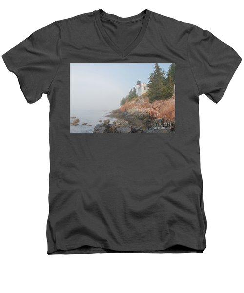 Bass Harbor Sunrise A Men's V-Neck T-Shirt