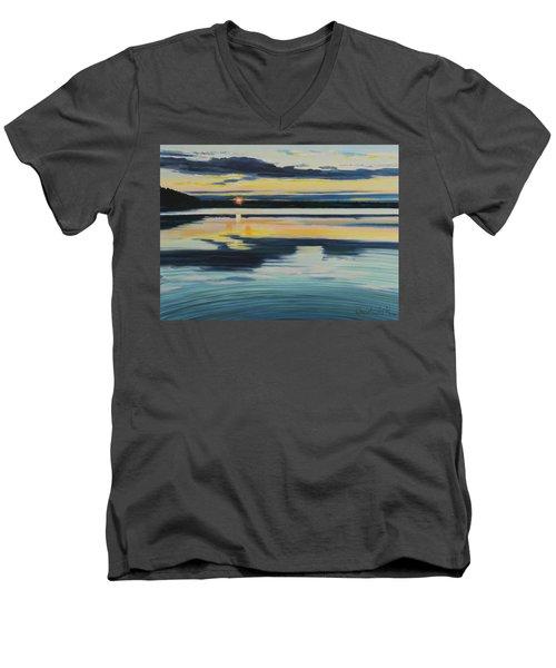 Bass Lake Sunset Men's V-Neck T-Shirt