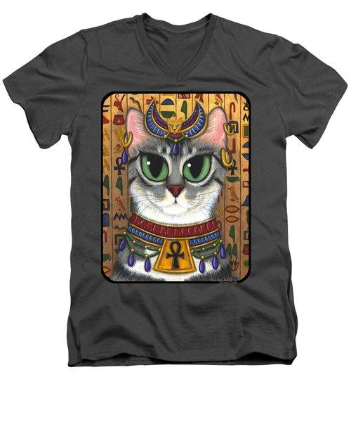Bast Goddess - Egyptian Bastet Men's V-Neck T-Shirt