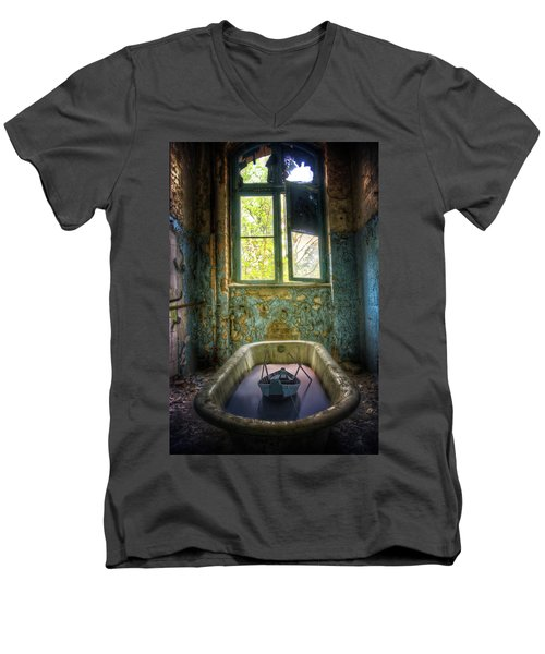 Men's V-Neck T-Shirt featuring the digital art Bath Toy by Nathan Wright