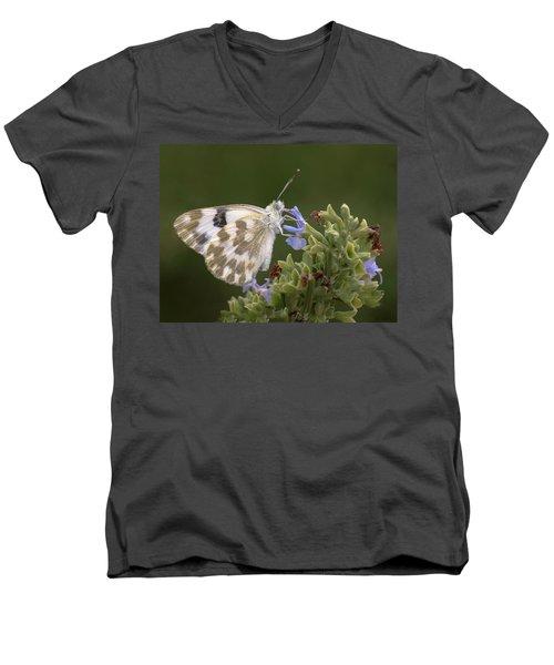 Bath White Men's V-Neck T-Shirt