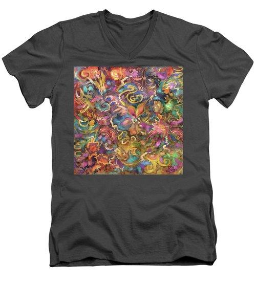 Batik Colorburst Men's V-Neck T-Shirt