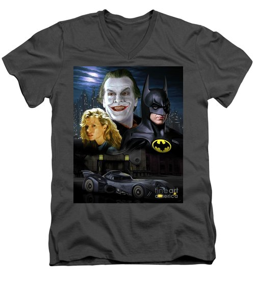 Batman 1989 Men's V-Neck T-Shirt