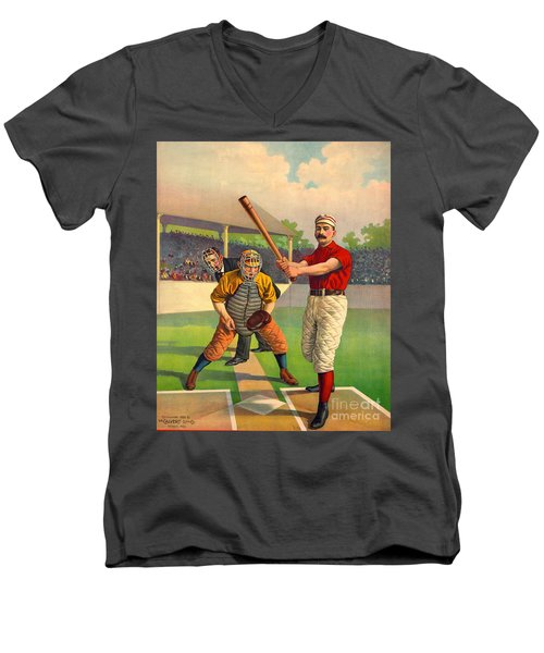 Batter Up 1895 Men's V-Neck T-Shirt