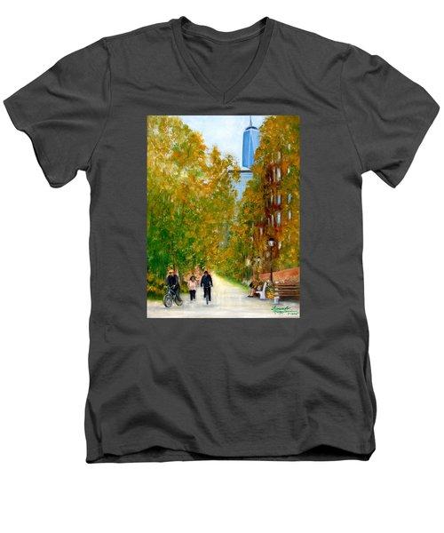 Battery Park City Ny Men's V-Neck T-Shirt
