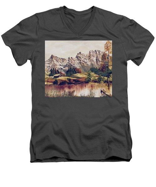Bavarian Landscape Men's V-Neck T-Shirt