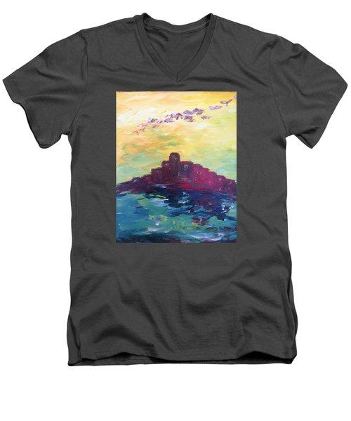 Bay City Skyscape Men's V-Neck T-Shirt by Roxy Rich