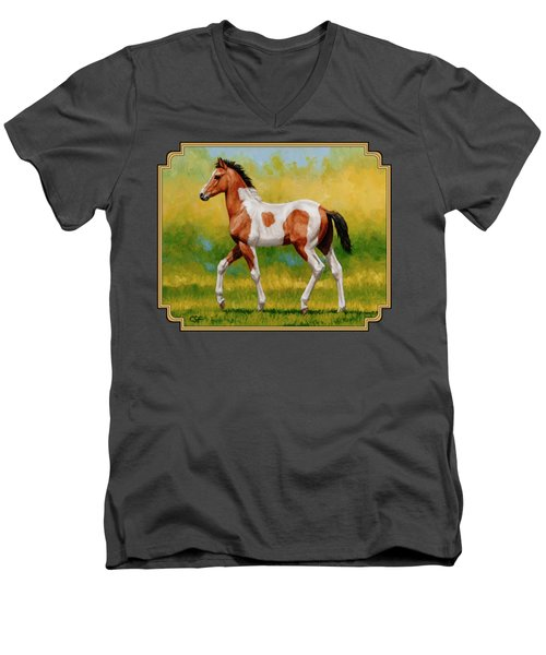 Bay Pinto Foal Men's V-Neck T-Shirt