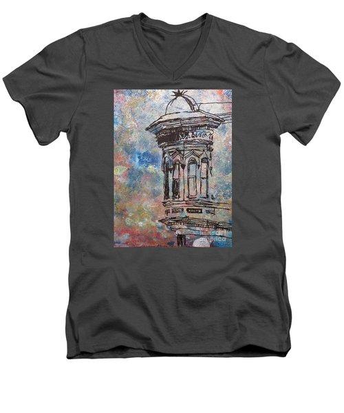 Bay Window Men's V-Neck T-Shirt by John Fish