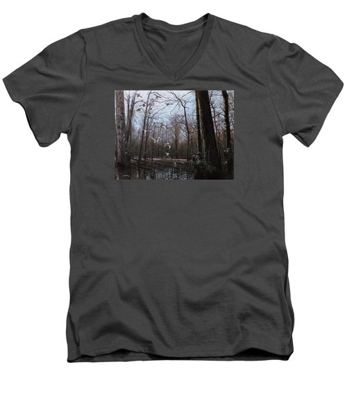 Bayou Meto Morning Men's V-Neck T-Shirt