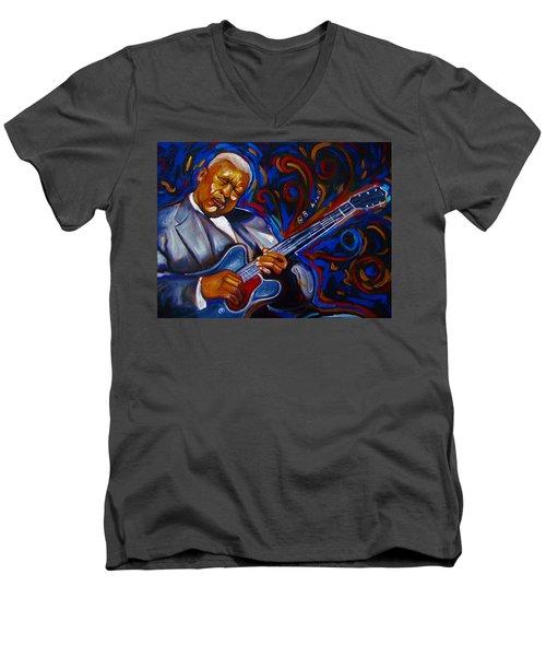 b.b KING Men's V-Neck T-Shirt by Emery Franklin
