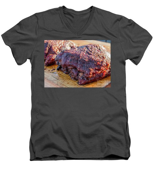 Bbq Beef 2 Men's V-Neck T-Shirt
