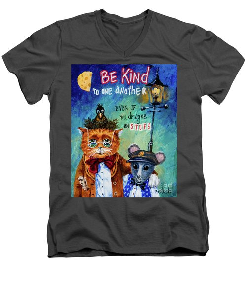 Be Kind Men's V-Neck T-Shirt