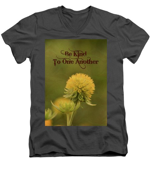 Be Kind To One Another Men's V-Neck T-Shirt by Trish Tritz