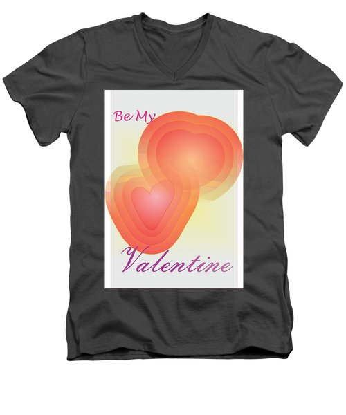 Men's V-Neck T-Shirt featuring the digital art Be My Valentine by Sherril Porter