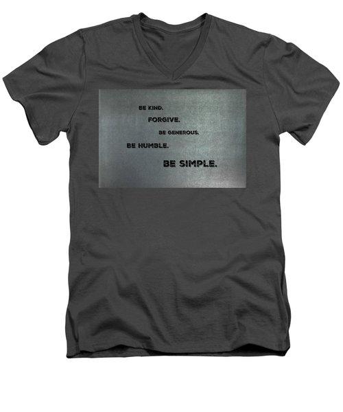 Be Simple Men's V-Neck T-Shirt