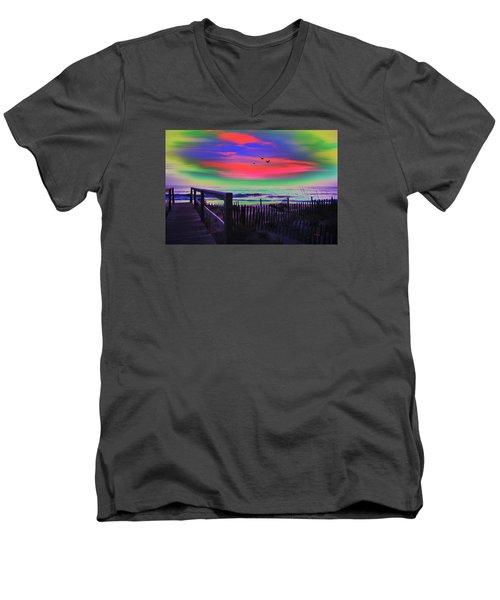 Beach Access Men's V-Neck T-Shirt