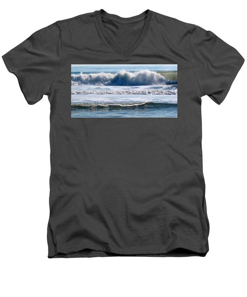 Beach At Iop Men's V-Neck T-Shirt