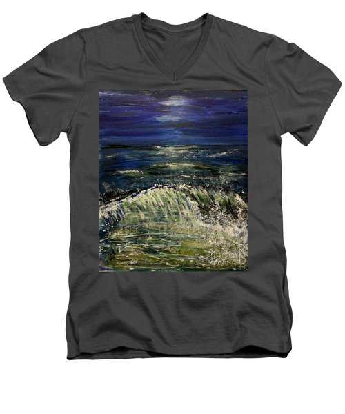 Beach At Night Men's V-Neck T-Shirt