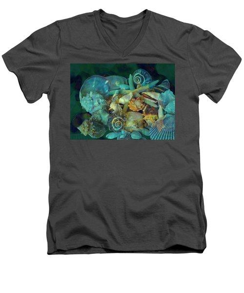 Beach Beauty 10  Men's V-Neck T-Shirt