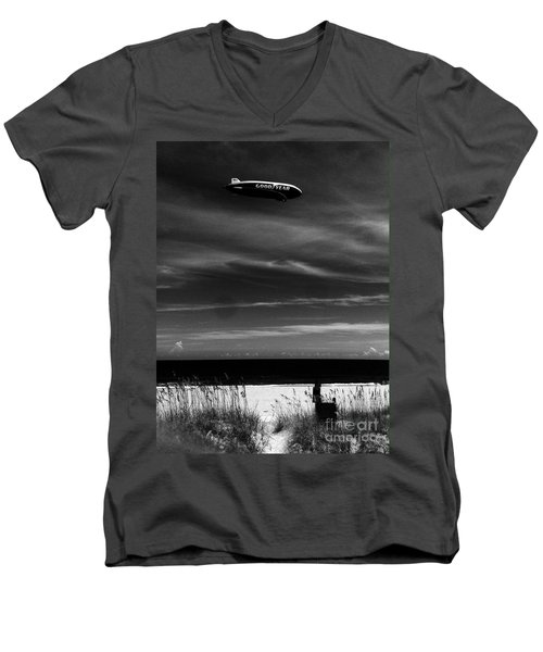 Beach Blimp Men's V-Neck T-Shirt by WaLdEmAr BoRrErO