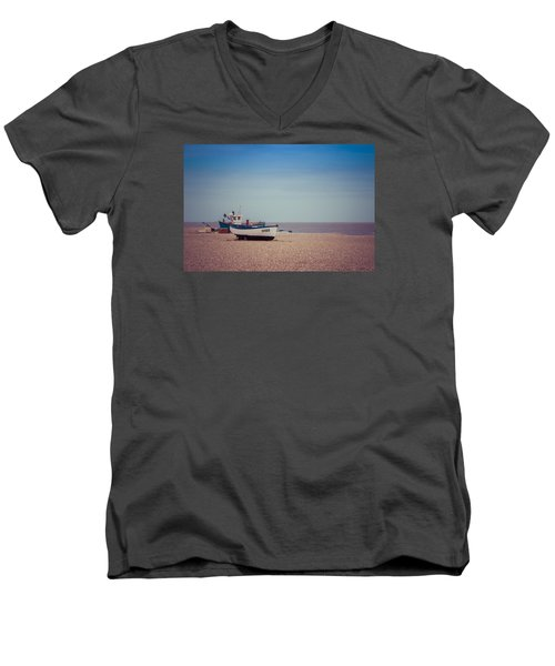 Beach Boats Men's V-Neck T-Shirt by David Warrington