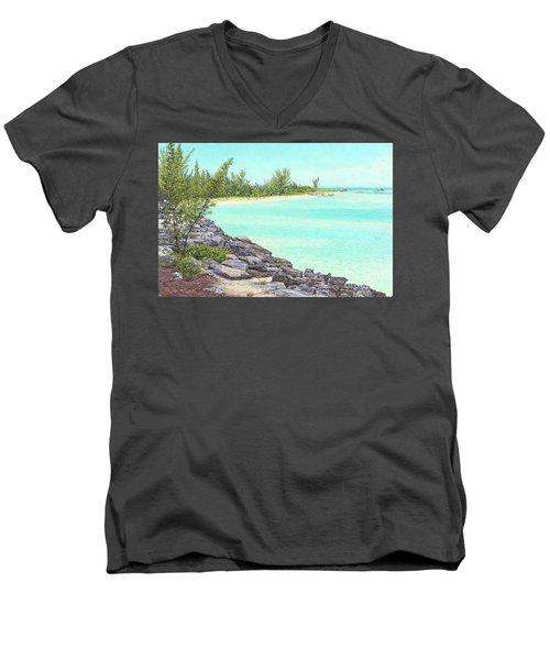 Beach Cove Men's V-Neck T-Shirt