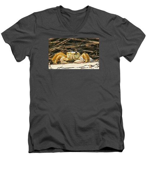 Beach Crab Men's V-Neck T-Shirt