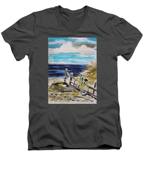 Beach Cruiser Men's V-Neck T-Shirt by John Williams