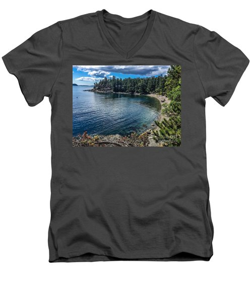 Men's V-Neck T-Shirt featuring the photograph Beach Days by William Wyckoff