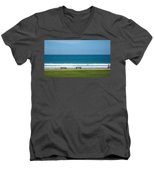 Beach Men's V-Neck T-Shirt