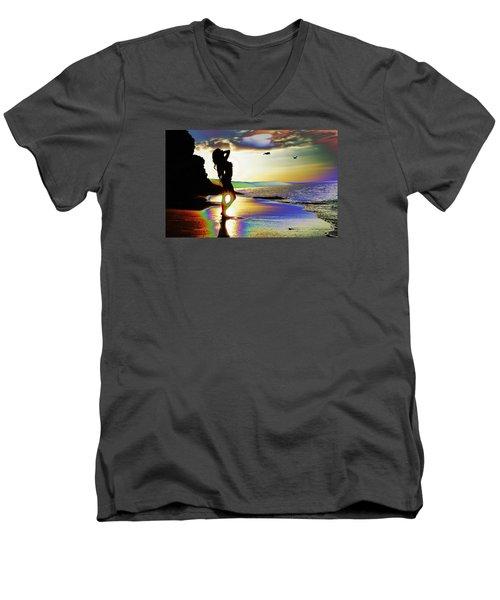 Beach Girl 4 Men's V-Neck T-Shirt
