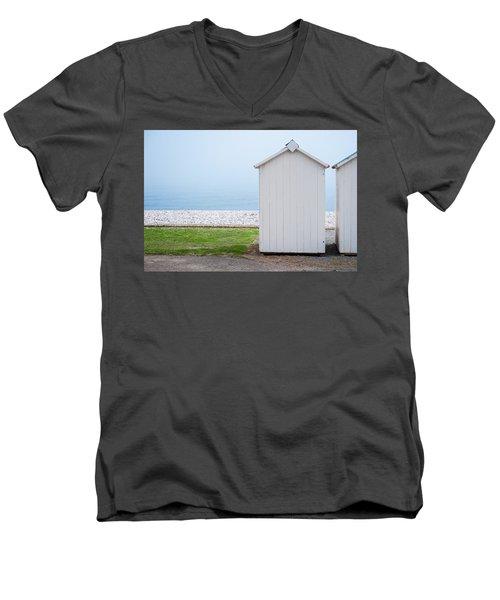 Beach Hut By The Sea Men's V-Neck T-Shirt
