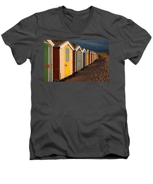 Beach Huts II Men's V-Neck T-Shirt