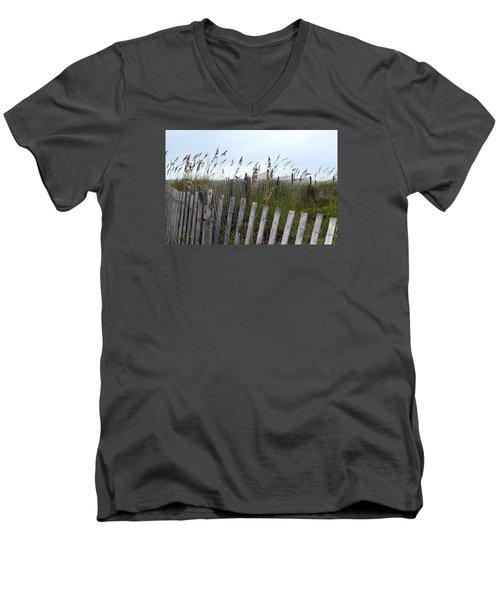 Beach Is Calling Men's V-Neck T-Shirt by Deborah  Crew-Johnson