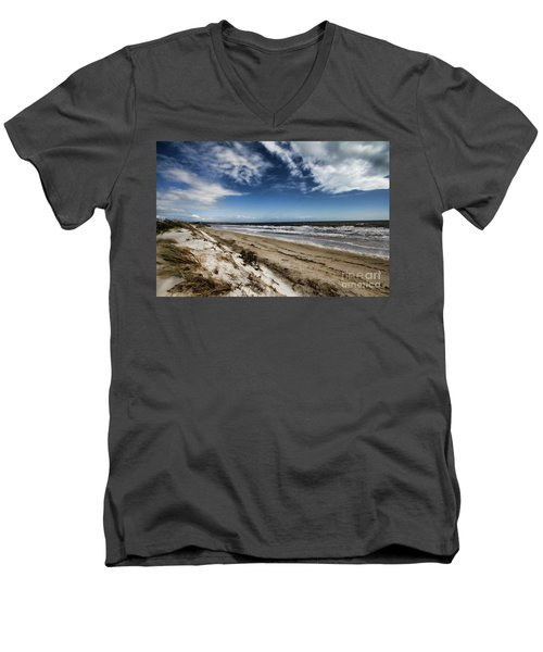 Men's V-Neck T-Shirt featuring the photograph Beach Life by Douglas Barnard