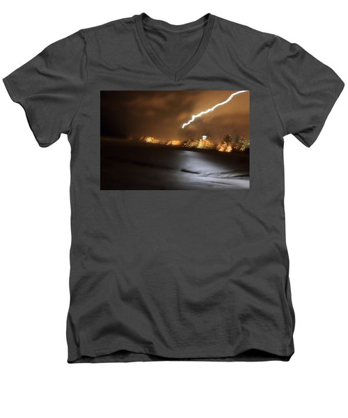 Beach Night 4 Men's V-Neck T-Shirt