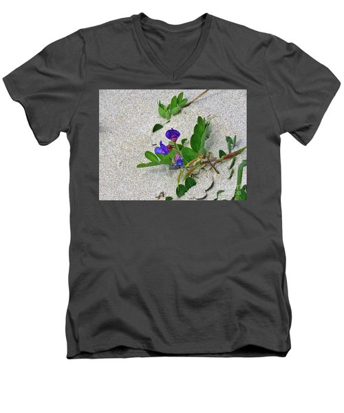 Beach Pea Vine Men's V-Neck T-Shirt