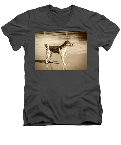 Men's V-Neck T-Shirt featuring the photograph Beach Ready by Nick Bywater