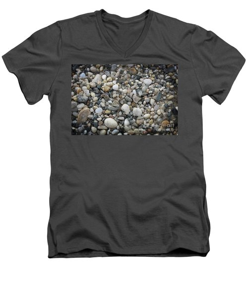 Beach Stones Men's V-Neck T-Shirt