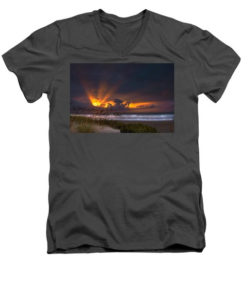 Beach Sunrise Men's V-Neck T-Shirt
