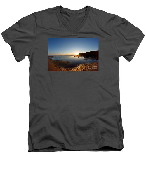 Beach Textures Men's V-Neck T-Shirt