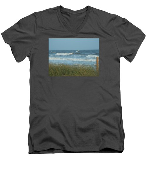 Men's V-Neck T-Shirt featuring the photograph Beach Time by Jake Hartz