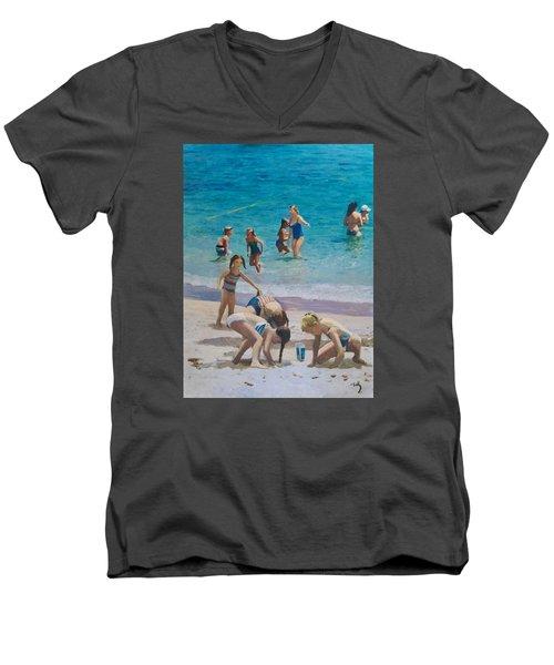 Beach Time Men's V-Neck T-Shirt